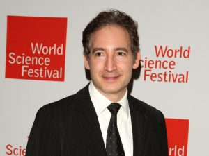 Brian Greene tijdens het World Science Festival in New York