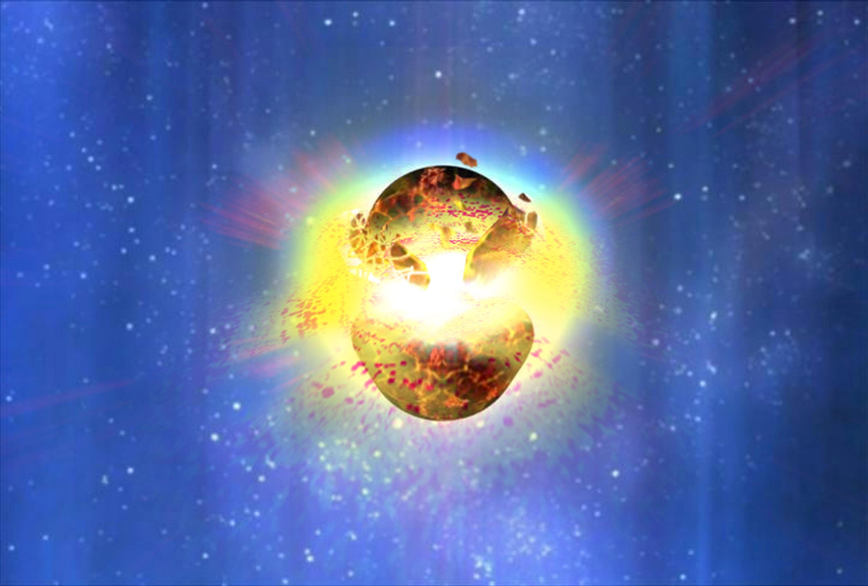 Zwaartekrachtsgolf van botsende neutronensterren onthult oorsprong van goud