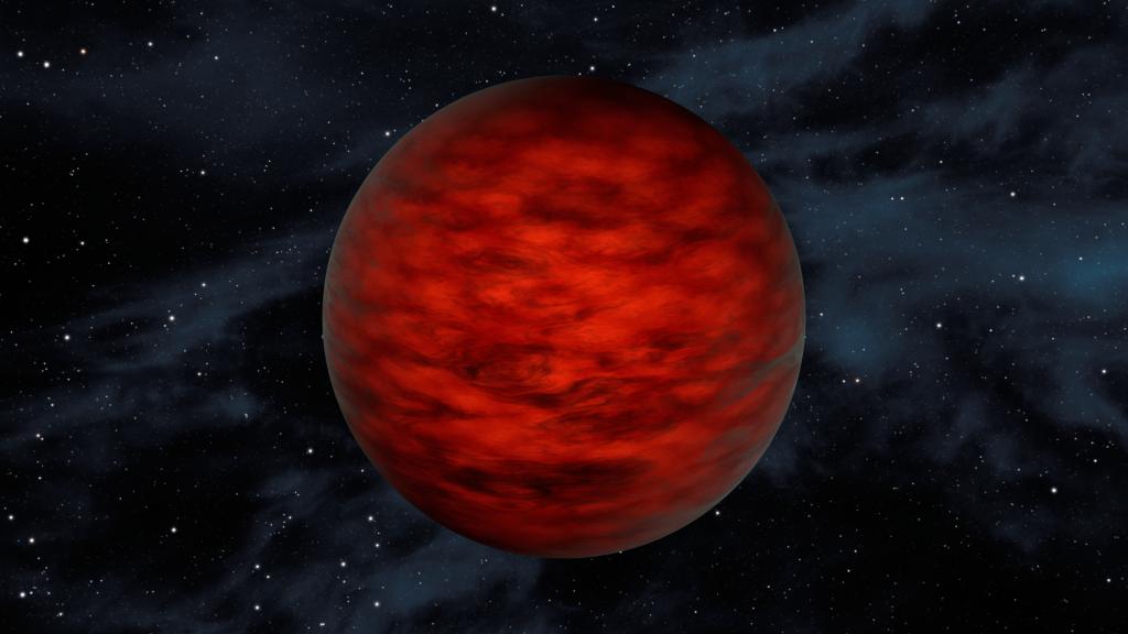 Jonge bruine dwerg werpt licht op eenzame planeten