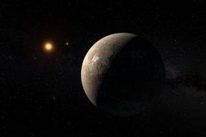 Artist's impression of the planet orbiting Proxima Centauri Beeld: ESO/M. Kornmesser