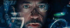 Heads-up displays duiken in veel sciencefictionfilms op, zoals hier bijvoorbeeld in Iron Man
