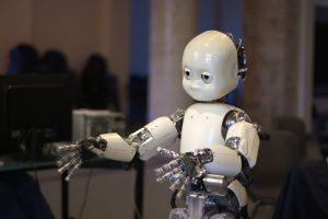 Bij dit experiment werd de robot iCub gebruikt. Foto: Jiuguang Wang
