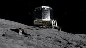 landing van Philae op komeet 67P. Afbeelding: ESA