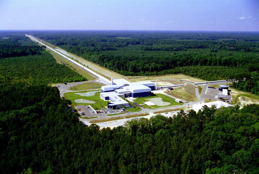 Een van de LIGO-detectoren.