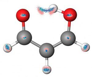 malonaldehyde met overspringend proton.