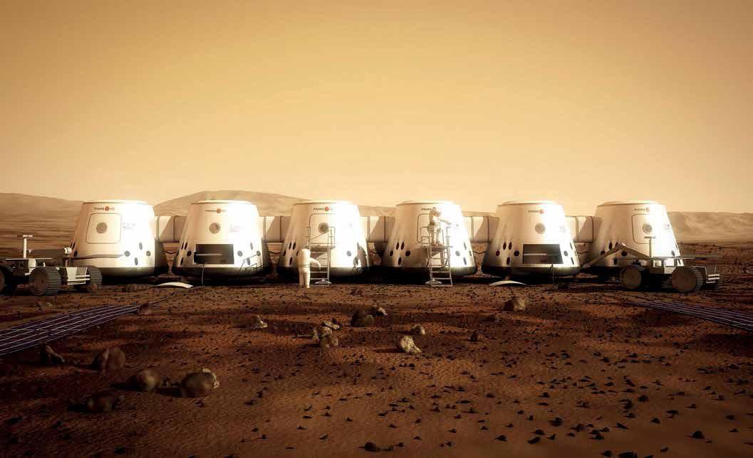 Een artist impression van de kolonie op Mars. Bron: Mars One