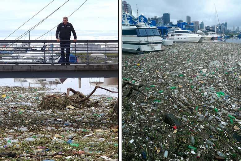 Plastic bij Durban