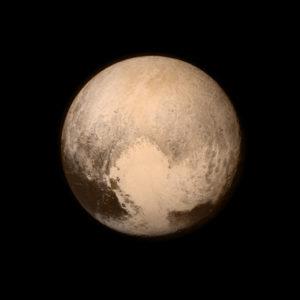 Pluto is sinds 2006 geen planeet meer, maar een dwergplaneet. Foto: Nasa