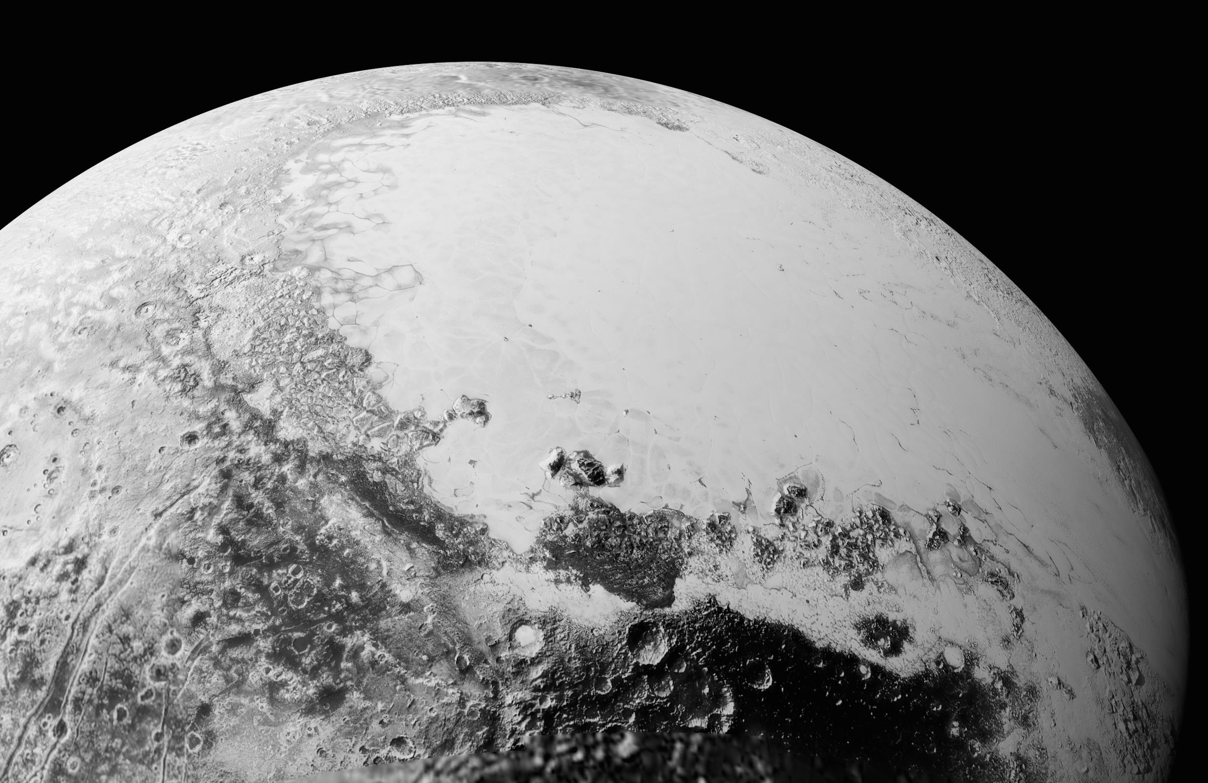 Pluto van zijn beste kant. Credit: NASA