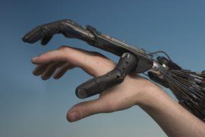 Gevoelige robothuid kan informatie over tast onthouden. Foto: Richard Greenhill en Marie de Ryck
