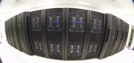"""Nederlandse supercomputer """"Huygens"""". Foto: DennisvanZuijlekom via flckr. CC2.0"""