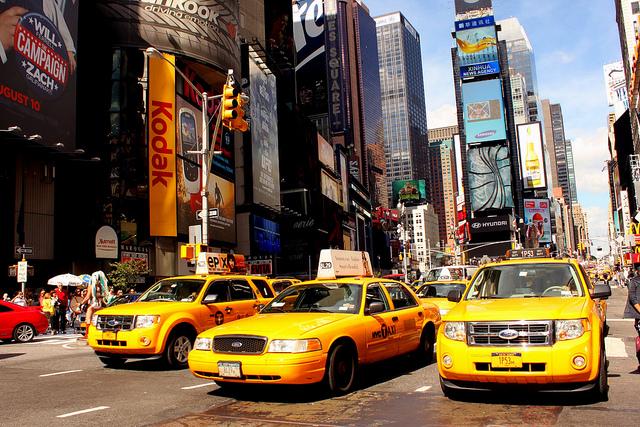 De straten van New York zien vaak geel van de taxi's. Foto: Prayitno