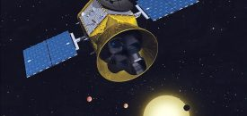 De Transiting Exoplanet Survey Satellite (TESS) van de NASA gaat op jacht naar exoplaneten. Beeld: NASA