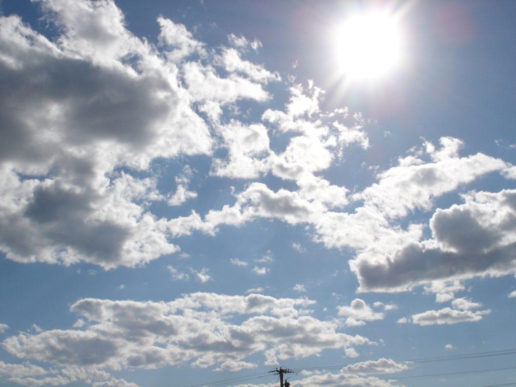 Dikke druppels houden zonlicht tegen en zorgen dat een wolk er grijs uit ziet. Foto: Robert Meeks