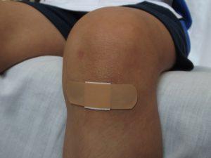 verwonde knie