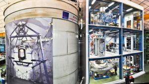 Het Xenon1T experiment speurt naar donkere materie in het ondergrondse lab Gran Sasso in Italië